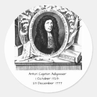 Anton Cajetan Adlgasser Ronde Sticker