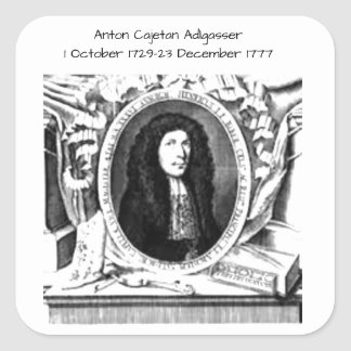 Anton Cajetan Adlgasser Vierkante Sticker