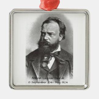 Antonin Dvorak Zilverkleurig Vierkant Ornament