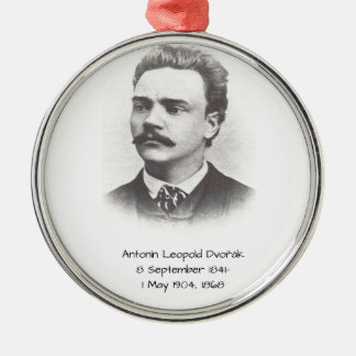 Antonin Leopold Dvorak 1868 Zilverkleurig Rond Ornament