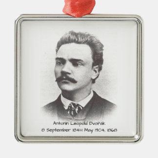 Antonin Leopold Dvorak 1868 Zilverkleurig Vierkant Ornament
