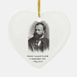 Antonin Leopold Dvorak Keramisch Hart Ornament