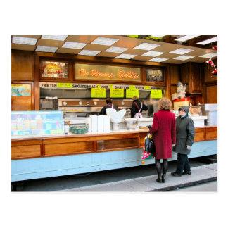 Antwerpen, snel voedsel, Belgische stijl, Briefkaart