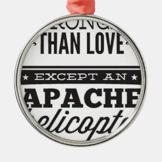Apache Zilverkleurig Rond Ornament