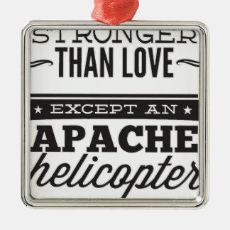 Apache Zilverkleurig Vierkant Ornament