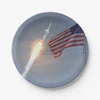 Apollo 11 papieren bordje