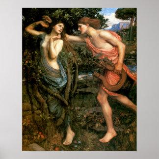 Apollo en Daphne Poster