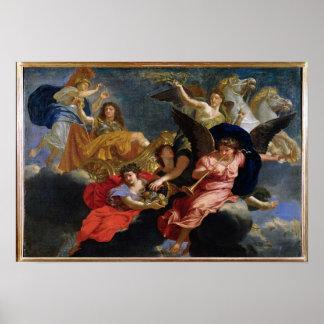 Apotheose van Koning Louis XIV van Frankrijk Poster