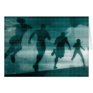 App van de geschiktheid het Silhouet Illustrati Wenskaart