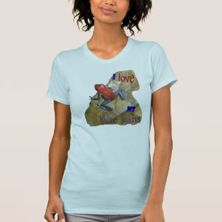 App van de Vrouwen van de Kikker van de jeans. T Shirt