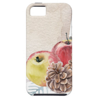 Appelen en kegels watercolour. tough iPhone 5 hoesje