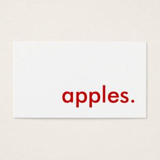 appelen visitekaartjes