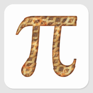 Apple Pi Vierkante Stickers
