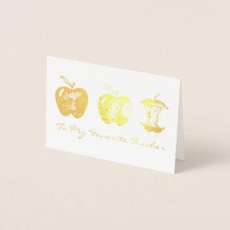 Apple voor het Favoriete Onderwijs van de School Folie Kaarten