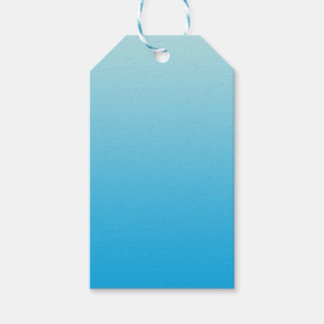 Aqua Blauwe Ombre Cadeaulabel