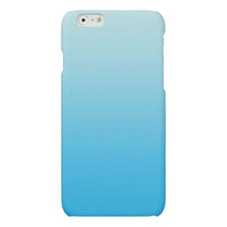 Aqua Blauwe Ombre Matte iPhone 6 Hoesje