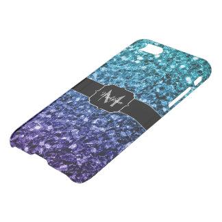 Aqua blauwe Ombre schittert Ongewoon iPhone 8/7 Hoesje