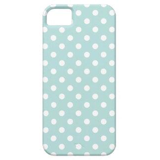 Aqua en het Witte Patroon van de Stip Barely There iPhone 5 Hoesje