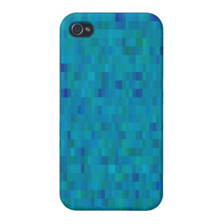 Aqua regelt modern patroon iPhone 4 hoesjes