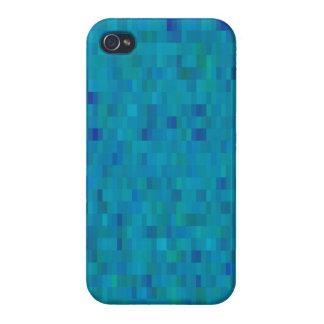 Aqua regelt modern patroon iPhone 4 cases