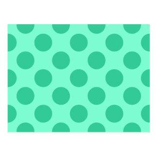 Aquamarijn en Groen Stip Briefkaart