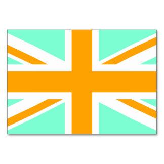 Aquamarijn en Oranje Union Jack Kaart