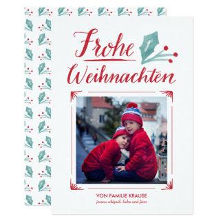 Aquarell & Kalligraphie   Frohe Weihnachten Kaart