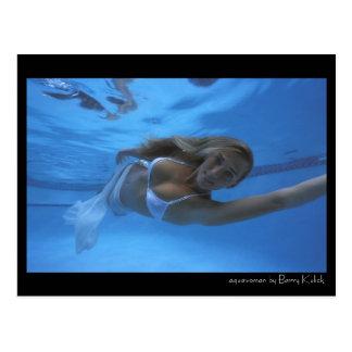 aquawoman door Barry Kulick Briefkaart