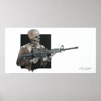 AR-15 skelet Poster