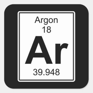 AR - Argon Vierkante Sticker