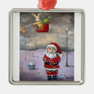 Ar Jacker Zilverkleurig Vierkant Ornament