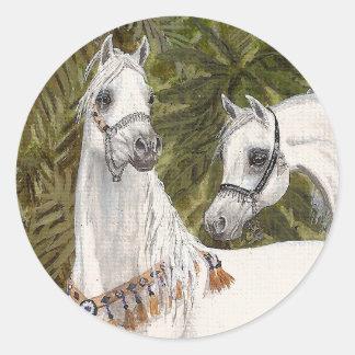 Arabische het paardstickers van het Bosje van de Ronde Sticker