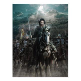 Aragorn die op Paard leiden Briefkaart