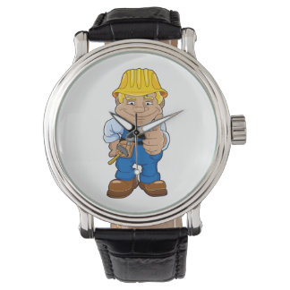 Arbeider met Bouwvakker Horloge