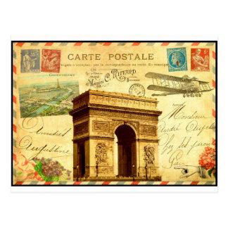 Arc DE Triomphe antiek briefkaartcollage Parijs Briefkaart