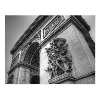 Arc DE Triomphe b/w Briefkaart