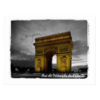 Arc DE Triomphe DE l'Étoile Parijs Frankrijk Briefkaart