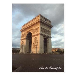 Arc DE Triomphe Parijs Briefkaart met tekst