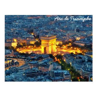 Arc DE Triomphe, Parijs, Frankrijk Briefkaart