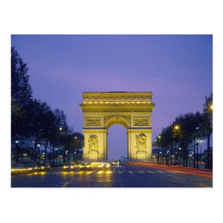 Arc DE Triomphe, Parijs, Frankrijk, Briefkaart