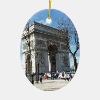Arc DE Triomphe, Parijs, Frankrijk Keramisch Ovaal Ornament