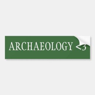 Archeologie <3 bumpersticker