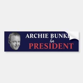 Archie Bunker voor de Sticker van de Bumper van he Bumpersticker