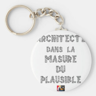 ARCHITECT, in MASURE VAN PLAUSIBEL Sleutelhanger