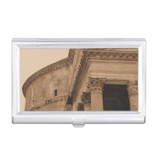 Architectuur van het Pantheon van Rome Italië de Visitekaarthouders