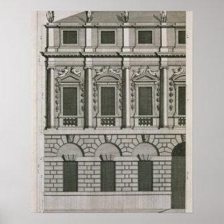 Architectuurontwerp dat propo Palladian aantoont Poster