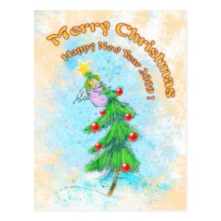 (archivistische) Vrolijke Kerstmis! - Briefkaart