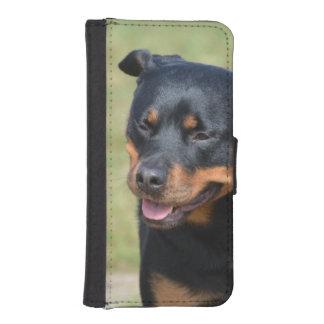 Argelooze Rottweiler iPhone 5 Portemonnee Hoesje