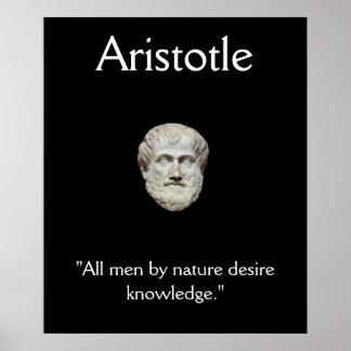 Aristoteles - het Citaat van de Kennis Poster