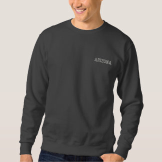 Arizona borduurde Basis Donker Grijs 2 van het Geborduurde Sweater